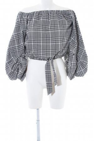 Lovers + friends Carmen Blouse black-white check pattern casual look