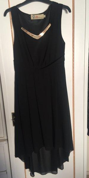Lovestruck asymmetrisch geschnittenes Kleid, schwarz/Gold, Gr.: S/M