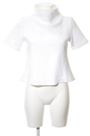 Lovjoi Sweater met korte mouwen wit casual uitstraling