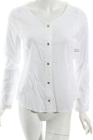 Lovjoi Langarm-Bluse weiß minimalistischer Stil