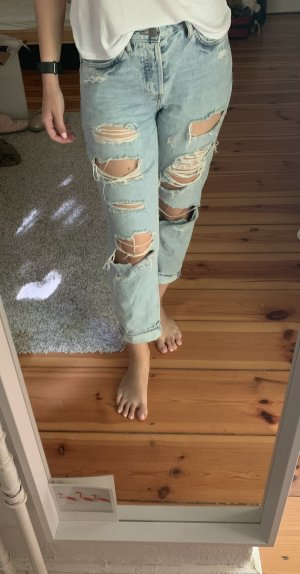 H&M Boyfriend Jeans light blue