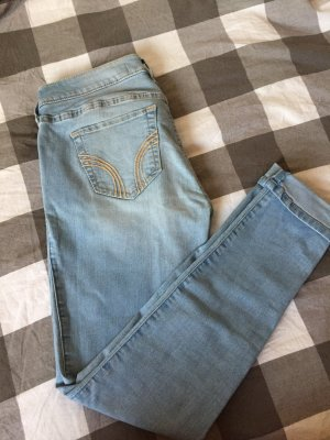Hollister Jeans skinny bleu azur-bleu clair coton