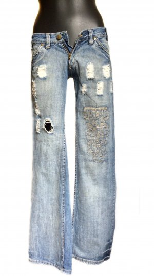 Dolce & Gabbana Denim Flares azure cotton