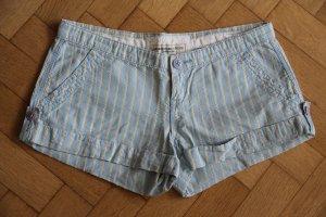 Abercrombie & Fitch Shorts giallo scuro-azzurro Cotone