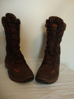 Lowa Bottes de neige brun-orange fluo