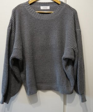 Coarse Knitted Sweater grey