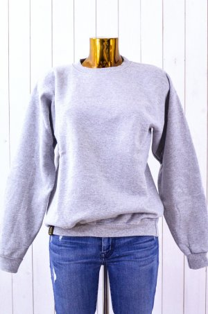 Sweat Shirt light grey-black cotton