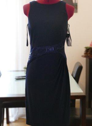 LRL Ralph Lauren Kleid Blau Gr S 36 34 4 Cocktail Abendkleid Jerseykleid NEU Etikett