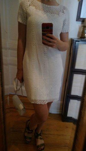 LRL Ralph Lauren Kleid Neu Strickkleid Baumwolle M 38 S 36 Baumwolle weiß Häkeloptik