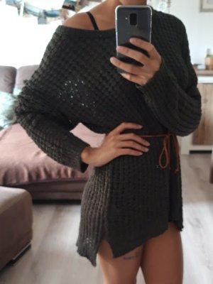 LT Pullover transparent, armygrün Größe L