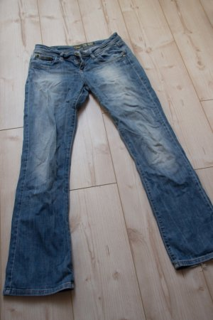 LTB 1948 Jeans Damen W28 L32 Blau Hose Blogger washed out used look