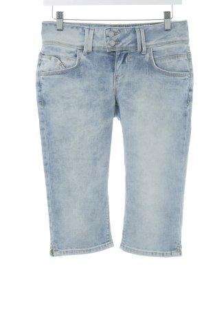 LTB Pantalone a 3/4 blu pallido-crema Colore sfumato stile povero