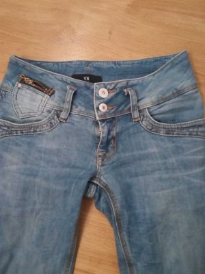 LTB Jeans vita bassa azzurro-blu fiordaliso Cotone