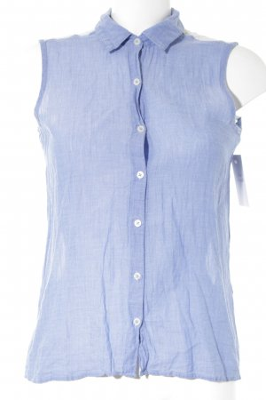 LTB ärmellose Bluse weiß-kornblumenblau Casual-Look