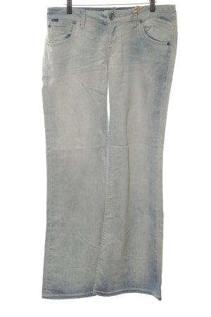 LTB Boot Cut Jeans blau Washed-Optik