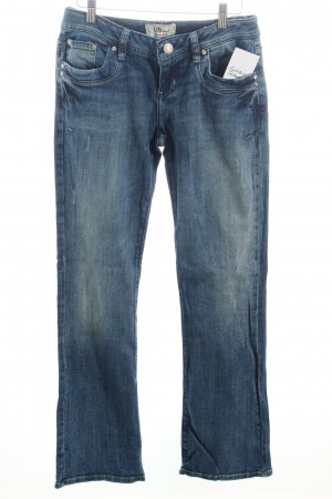 LTB Boot Cut Jeans dunkelblau-wollweiß Casual-Look