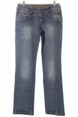 LTB by Littlebig Boot Cut Jeans blau-wollweiß Bleached-Optik