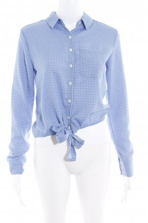 LTB by Littlebig Wraparound Blouse cornflower blue-natural white simple style