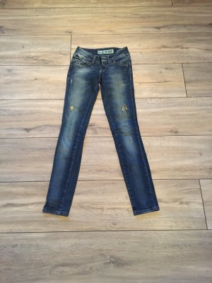 LTB Low Rise jeans donkerblauw-blauw