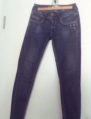 LTB Pantalon cigarette bleu foncé