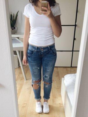 LTB Georget Jeans Skinny Röhrenjeans damaged destroyed mit Löchern Größe 26