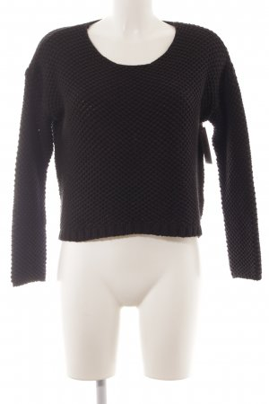 LTB Grobstrickpullover schwarz Casual-Look