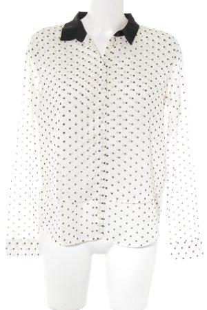 LTB Hemdblouse wit-zwart ruitpatroon zakelijke stijl