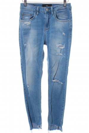 LTB High Waist Jeans himmelblau Destroy-Optik