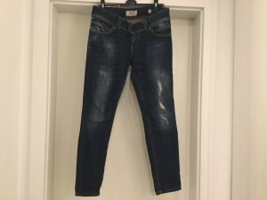 LTB Jeans Gr. 30 Ankle Slim Dunkelblau leichter Used Look, fast neu! M L 40 42