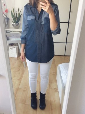 LTB Jeanshemd Jeansbluse Hemd Bluse Jeans Patchwork Gr. XS