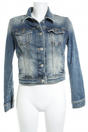 LTB Jeansjacke blau Washed-Optik