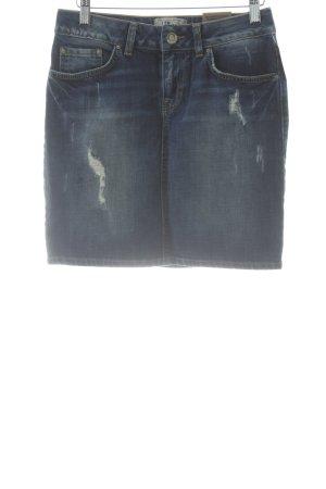 LTB Jeansrock blau-weiß Casual-Look