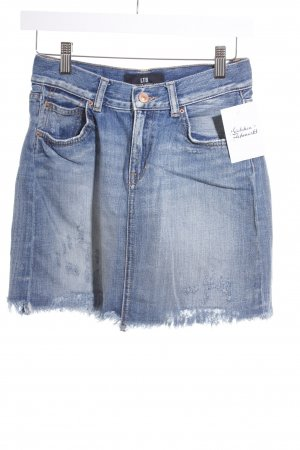 LTB Jeansrock dunkelblau Washed-Optik