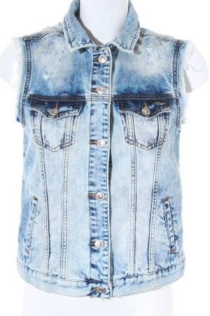 LTB Gilet en jean bleu style boyfriend