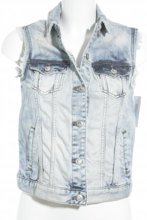 LTB Denim Vest cornflower blue biker look