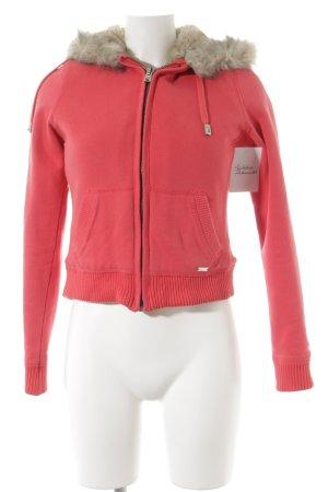 LTB Veste à capuche rouge clair style athlétique