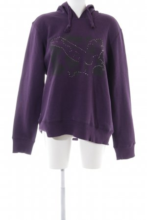LTB Hooded Sweatshirt lilac abstract pattern casual look