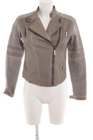 LTB Kunstlederjacke grau-graugrün Biker-Look