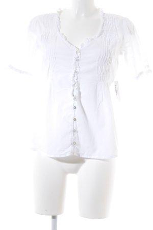LTB Kurzarm-Bluse weiß Elegant