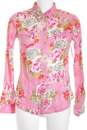 LTB Langarm-Bluse rosa Blumenmuster Casual-Look