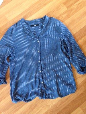 LTB littlebig Bluse Hemd Blau weiß gepunktet S Viskose