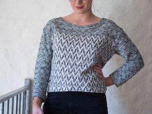 LTB Pullover Shirt Lenka Zick-Zack-Muster Gr. M