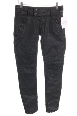 LTB Röhrenhose schwarz Biker-Look