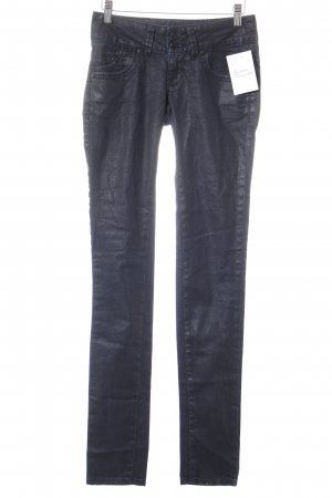 LTB Drainpipe Trousers black-dark blue simple style