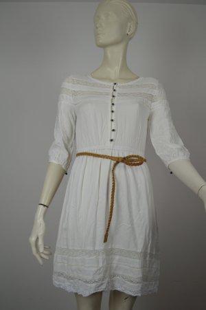 LTB - romantisches Kleid Eszasori Dress creme Spitze Gürtel ~ NEU Gr 34 XS