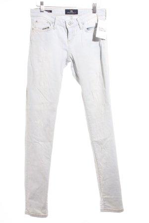 LTB Skinny Jeans blassblau-hellbeige Used-Optik