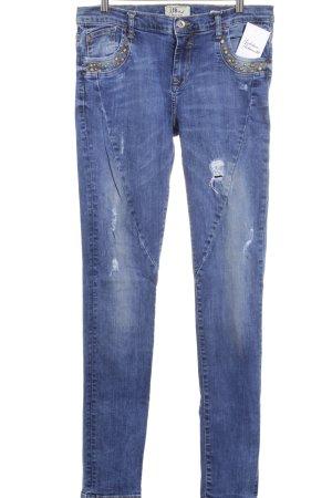 LTB Skinny Jeans blau Street-Fashion-Look
