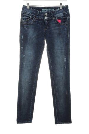 LTB Skinny Jeans dunkelblau Bleached-Optik