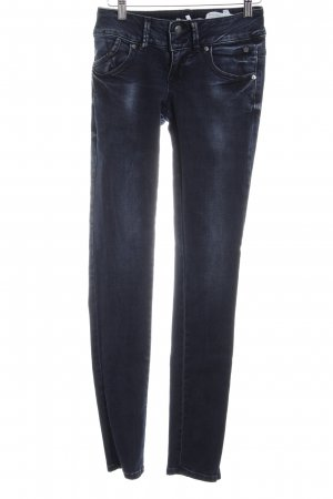 LTB Skinny Jeans dunkelblau-silberfarben Casual-Look