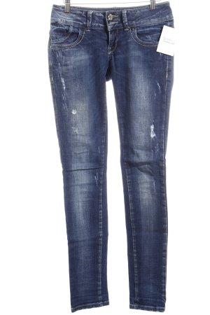 LTB Skinny Jeans dunkelblau Used-Optik